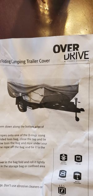 Cover For xl pop up tent camper used for a year good condition with bag for Sale in Vancouver, WA