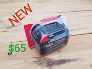 new milwaukee m18 5.0ah battery only $65 for Sale in Littlerock, CA