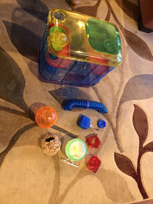 Hamster cage with accessories. for Sale in San Jose, CA