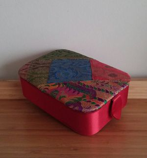 Decorative Embroidered Red Satin Jewelry Case for Sale in Gaithersburg, MD