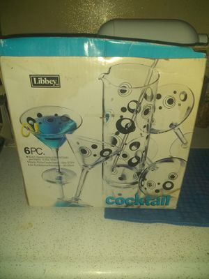 Martini pitcher with glasses for Sale in Bisbee, AZ