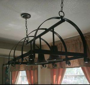 Iron Kitchen Island Linear Light Fixture w/ Pot Hanging Hooks for Sale in Oviedo, FL
