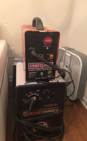 Craftsman wire feed welder and the same Hobart stickmate lx for Sale in Apex, NC