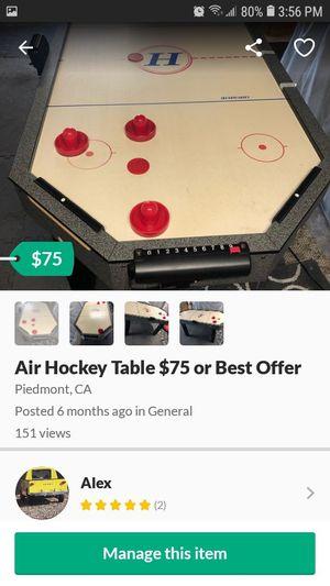 Digital Air Hockey Table $50 for Sale in Montclair, CA