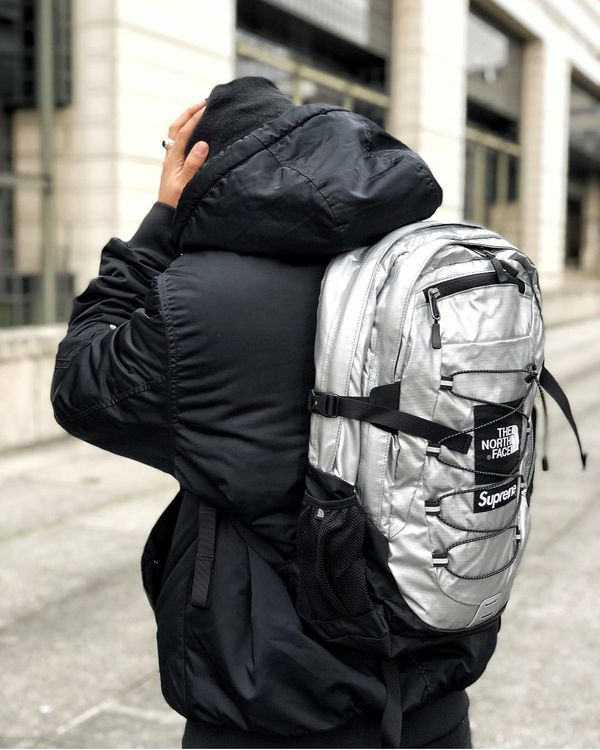 6190c8cca54 Supreme / The North Face [SS18] Metallic Borealis Backpack for Sale ...