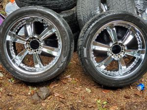 22' rims and tires for Sale in Bremerton, WA