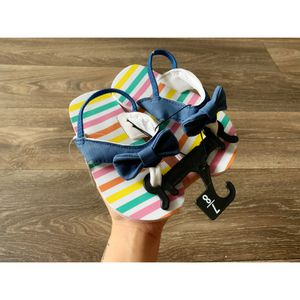 Striped denim bow sandals NEW for Sale in Fort Campbell, TN