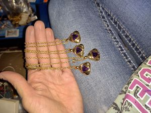 Amethyst necklaces for Sale in Canton, IL