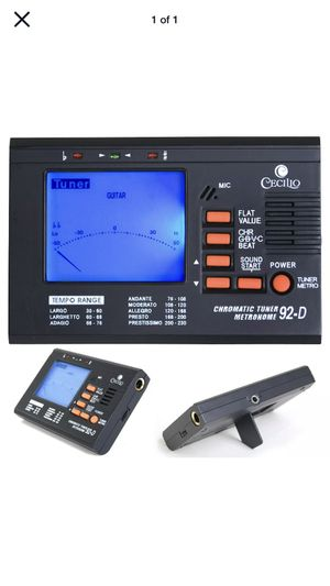 Cecilio Chromatic/String Tuner with Metronome ~TM_92-D for Sale in Town and Country, MO