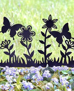 New LARGE-Silhouette Butterfly & Flower Stake for Sale in Buena Park,  CA