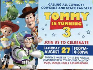 Custom Toy story invitations for Sale in Norwalk, CA