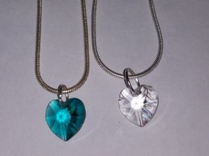 Jewelry Real crystal pendant necklace silver plated chains for Sale in Bacliff, TX