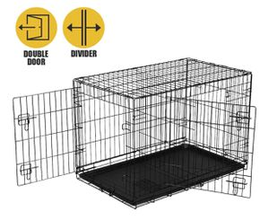 """Vibrant Life Double-Door Folding Wire Dog Crate with Divider, 36""""L for Sale in San Lorenzo, CA"""