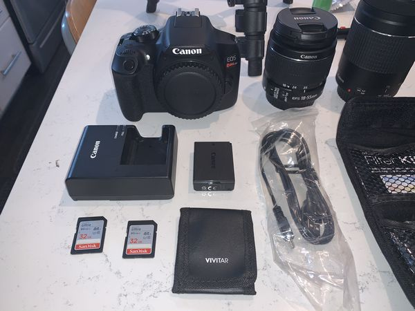 Canon EOS Rebel T6 DSLR Camera DEAL PACKAGE