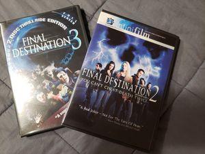 Set of 2 Final Destination DVDs (parts 2 and 3) for Sale in Gresham, OR