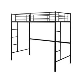 Loft Twin Metal Pipe Bed With Two Sided Ladder for Sale in Culver City,  CA