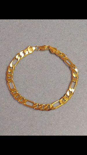 18k gold filled unisex bracelet for Sale in Silver Spring, MD