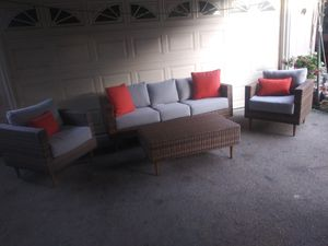 Outdoor patio sofa with chairs and table for Sale in Los Angeles, CA