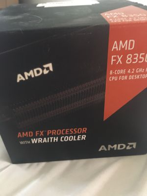 AMD FX-8350 8-Core 4.0GHz/4.2GHz Turbo Socket AM3+ CPU with AMD Wraith Cooler for Sale in Columbus, OH