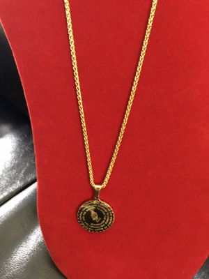Gold plated chain and pendant for Sale in Rockville, MD
