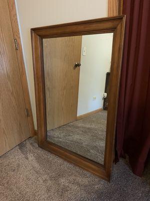 Wood frame wall mirror for Sale in Oak Lawn, IL