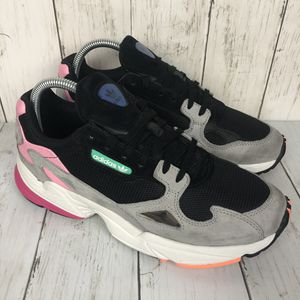 Adidas Falcon Chunky Grey Black Athletic Sneakers Womens for Sale in Elk Grove Village, IL