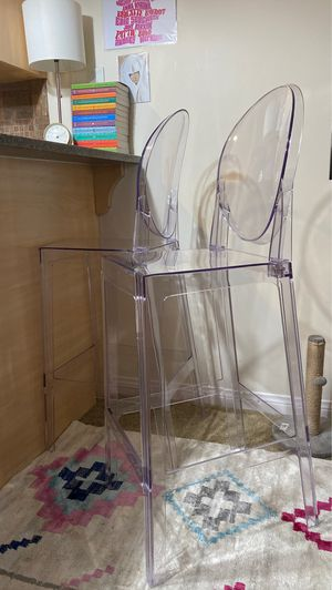 Like new acrylic barstools 2 for Sale in Las Vegas, NV