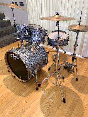 DW PDP 5 piece CX drum set drums kit Zildjian matching ZBT cymbals PDP throne & bass pedal complete kit as pictured $525 in Ontario 91762 for Sale in Ontario, CA