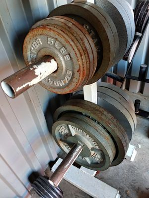 240 lbs olympic weights for Sale in Phoenix, AZ