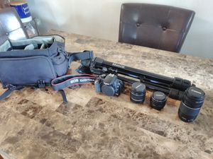 Canon EOS Rebel XS +Lenses and Tripod for Sale in CA, US