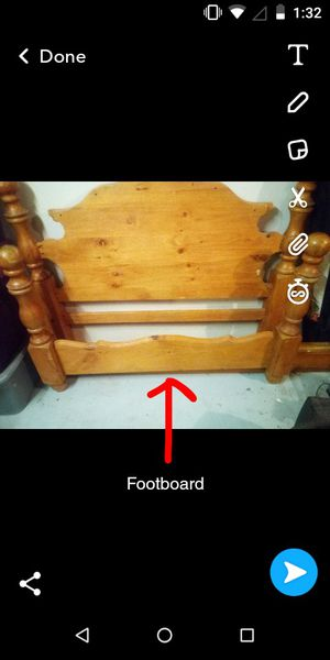 Solid wood bed frame for Sale in Vidor, TX