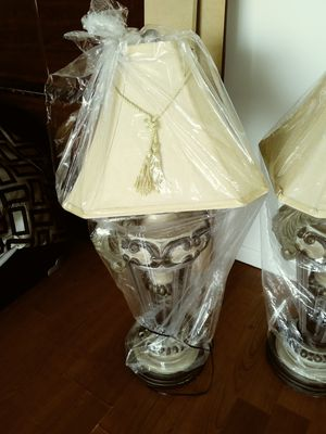 Four lamps with shades. 50.00 EACH for Sale in Joliet, IL