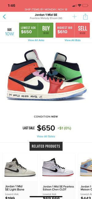 Jordan 1 fearless melody for Sale in Los Angeles, CA