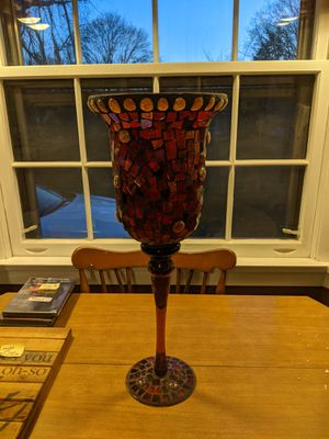 """20.5"""" high, bombay buenos aires mosaic hurricane candle holder for Sale in South Attleboro, MA"""