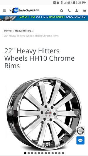 22 in chrome heavy hitter rims for Sale in Houston, TX