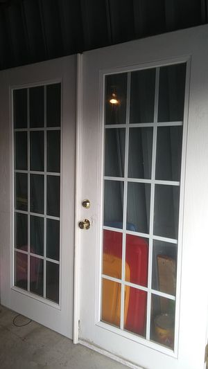 70x80 wooden exterior French doors for Sale in Tulsa, OK