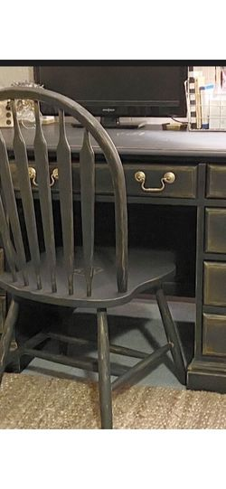 Beautiful Refurbished Vintage Solid Wood Desk And Chair ~ for Sale in Port Orchard,  WA