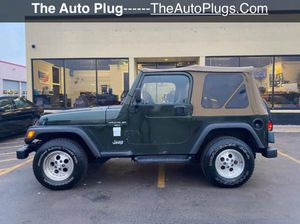1998 Jeep Wrangler Sport/ TJ Soft Top 4.0L I6 4X4 Manual Transmission for Sale in Elmhurst, IL