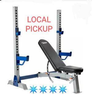 Olympic Weight Bench Incline / Decline / Squat Rack / Fitness Gear Pro OB 600 for Sale in Yucaipa, CA