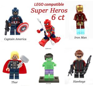 Mini Figure Super Hero 6 ct works with legos for Sale in Upland, CA