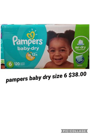 pampers baby dry size 6 for Sale in Los Angeles, CA
