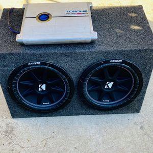 $300 no less /no menos -Brand New Kicker Comp 12s / New Box / 3000 watt Monoblock Amp for Sale in Sanger, CA