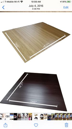 Bamboo office chair mat for Sale in San Antonio, TX