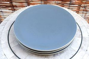 SET of 3 - SASAKI COLORSTONE MAT GRAY | Dinner Plates | 1985 Made in Japan for Sale in Los Angeles, CA