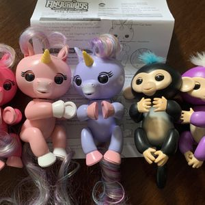 LOT kids Fingerling Baby Unicorn Monkey Interactive Toys Boy Girl for Sale in Brooklyn, NY