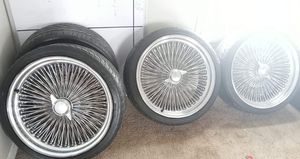 """21"""" Dayton rims 5 lug universal adapters for Sale in Orient, OH"""
