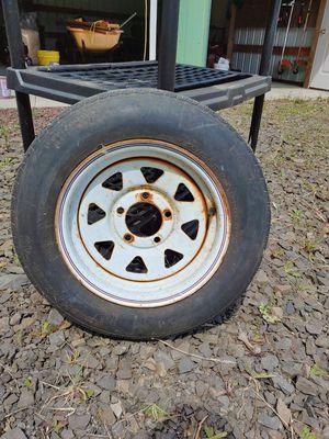 Trailer tire and rim for Sale in Castle Rock, WA