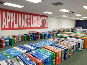 TV warehouse liquidation event !!! New open box!! Act fast! Q D for Sale in Whittier, CA