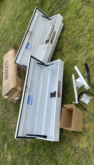 Weather Guard Heavy Duty Steel Side Boxes ((( $395 OBO ))) ❗️Great Conditions ❗️2 Keys 🔑 ❗️ for Sale in Riverside, CA