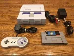 Super Nintendo Video Game System w/ Super Mario World for Sale in Manassas, VA